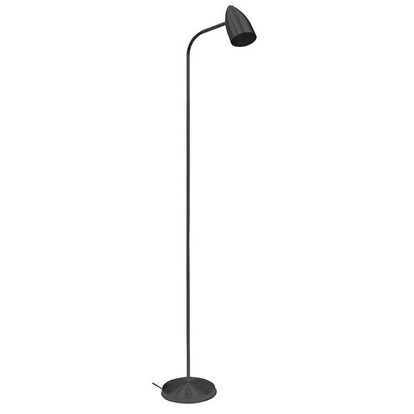 Luminária Flexível de Coluna Para 1 Lâmpada E27 Preta