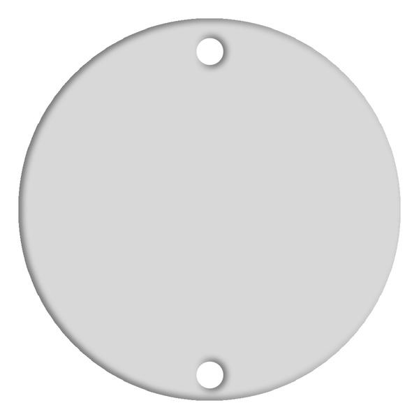 Placa 4x4 Cega Redonda Branca 1472 Bari Alumbra