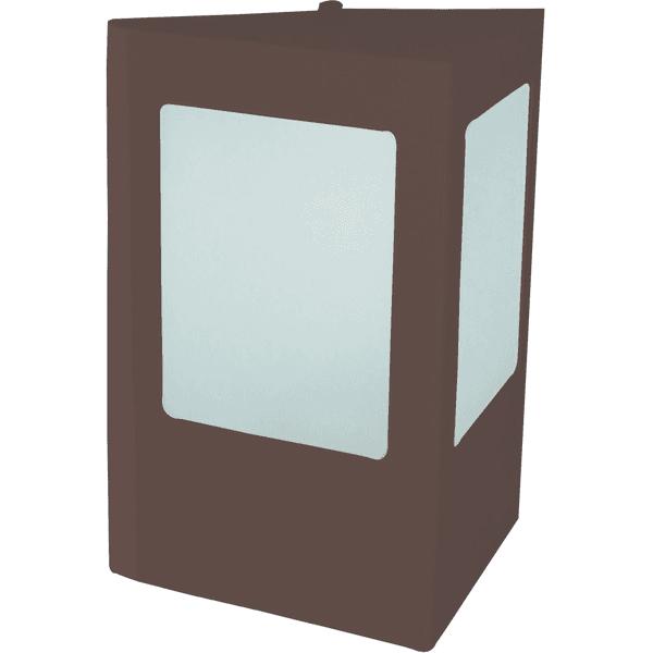 Arandela Triangular Área Externa Para 1 Lâmpada E27 Alumínio Marrom