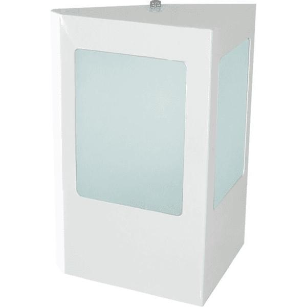 Arandela Triangular Área Externa Para 1 Lâmpada E27 Alumínio Branca
