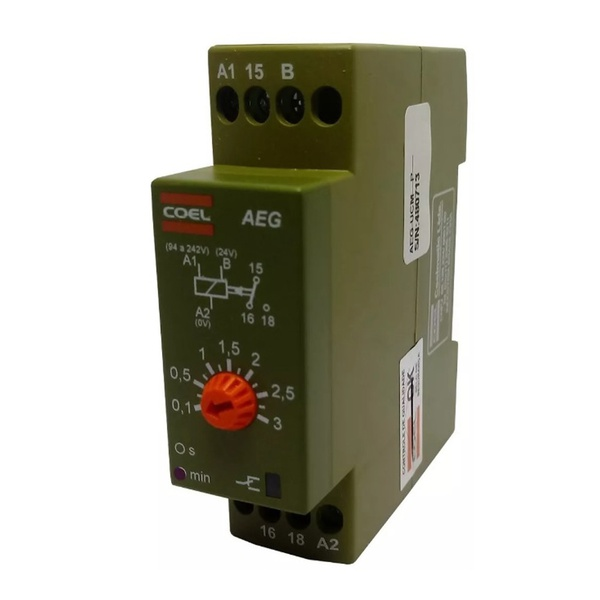 Temporizador de Pulso / Retardo 3MIN AEG 220V Coel