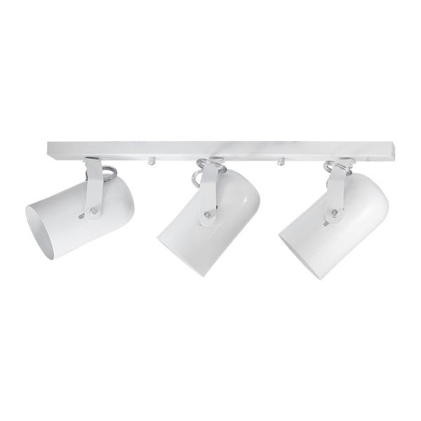 Spot para 3 Lâmpadas E27 Branco Trilho