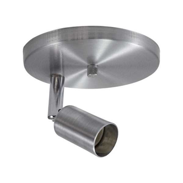 Spot para 1 Lâmpada GU10 (Dicróica) Escovado Base