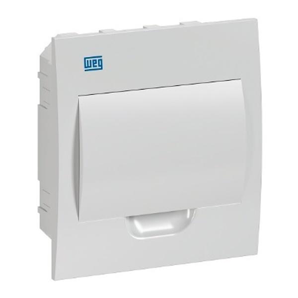 Quadro De Distribuição De Embutir Para 8 Disjuntores - Branco Weg
