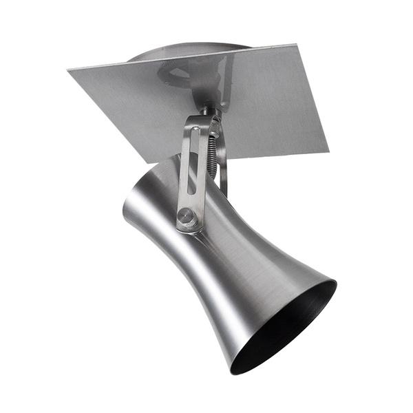 Spot para 1 Lâmpada E27 Escovado Canopla Quadrada