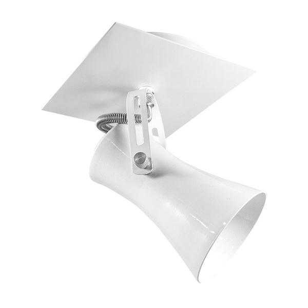 Spot para 1 Lâmpada E27 Branco Canopla Quadrada