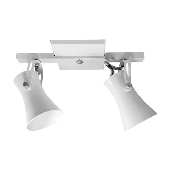 Spot para 2 Lâmpadas E27 Branco Trilho