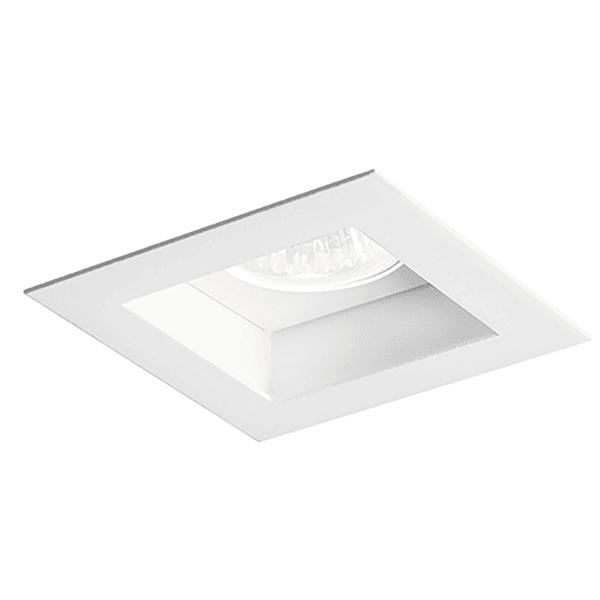 Embutido de Teto Quadrado Recuado Flat Para Lâmpada PAR20 Branco