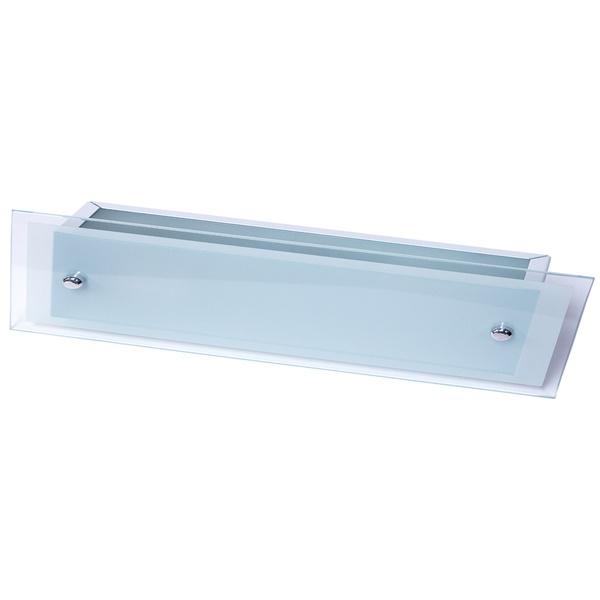 Arandela Camarim 75cm x 12cm Retangular Para 2 Lâmpadas E27 com Vidro Branca