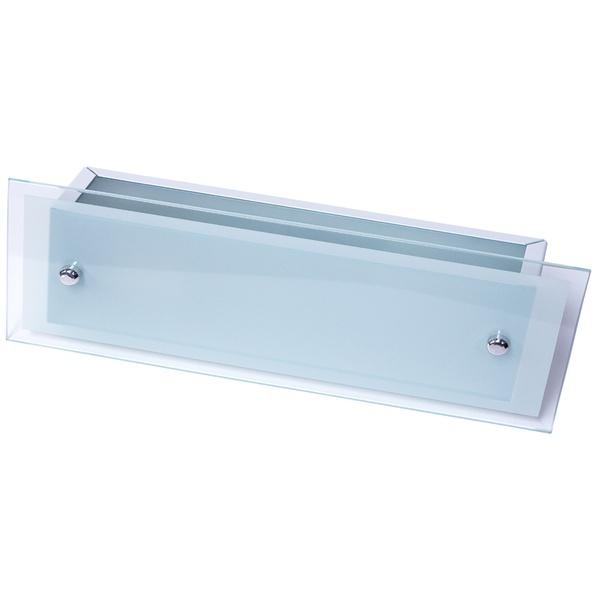 Arandela Camarim 45cm x 12cm Retangular Para 2 Lâmpadas E27 com Vidro Branca