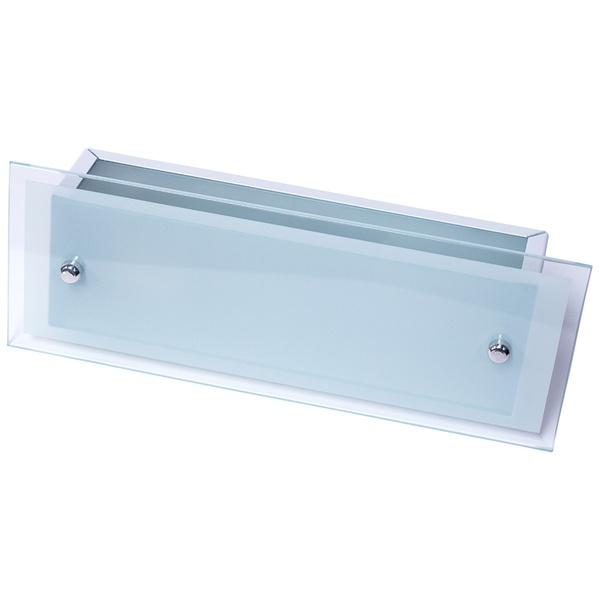 Arandela Camarim 30cm x 12cm Retangular Para 1 Lâmpada E27 com Vidro Branca