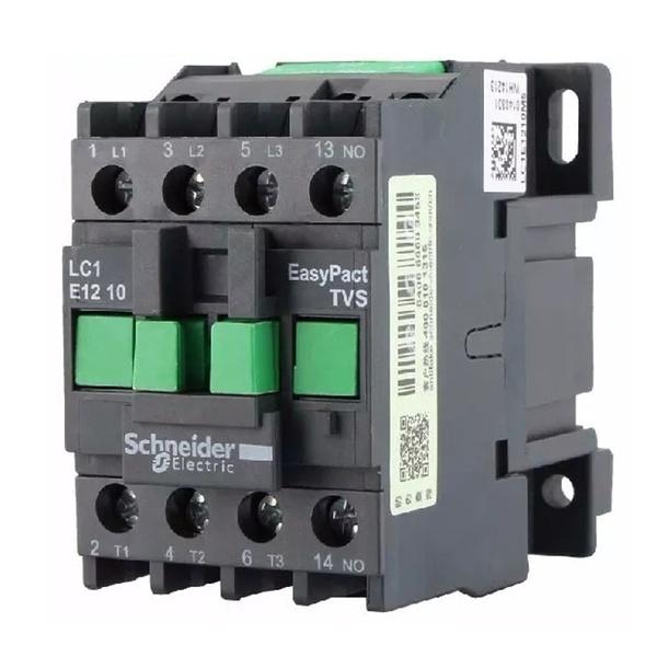 Contator Tripolar 12A 220VCA LC1E1210M7 Schneider