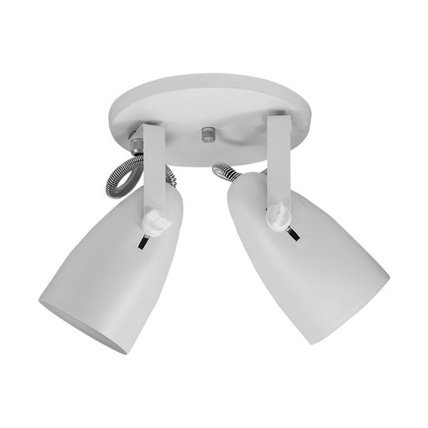 Spot para 2 Lâmpadas E27 Branco Base