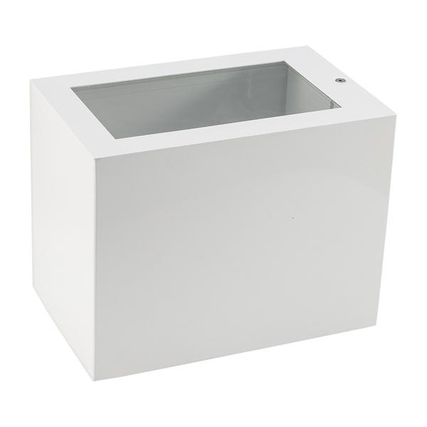 Arandela de Efeito para 1 Lâmpada Halógena 150W Vidro/Vidro Branco