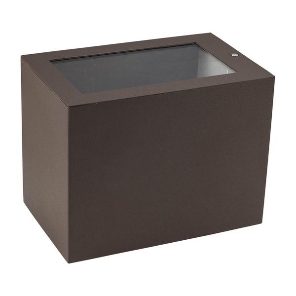 Arandela de Efeito para 1 Lâmpada Halógena 150W Vidro/Vidro Marrom
