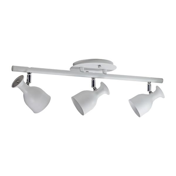 Spot para 3 Lâmpadas GU10 (Dicróica) Branco Trilho