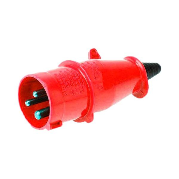 Plugue 2P+T 16A 380/440V Vermelho N3079 Steck