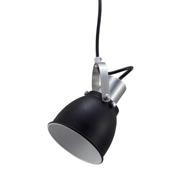 Pendente para 1 Lâmpada E27 Preto(Externo) Branco(Interno)
