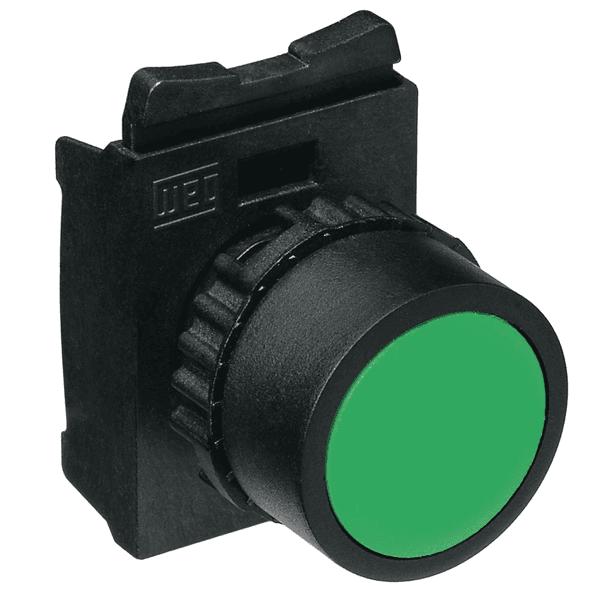 Botão Simples Faceado CSW-BF2 WH 1NA Verde Weg