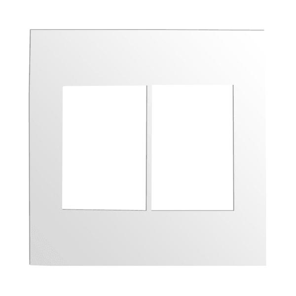 Placa 4x4 para 3 + 3 Módulos 575300B Arteor Pial