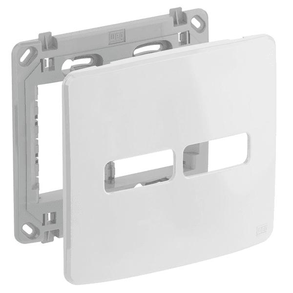 Placa 4x4 Para 2 Módulos Separados Com Suporte Composé Branco - Weg