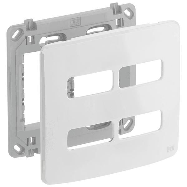 Placa 4x4 para 4 Módulos Separados com Suporte 13295562 Composé Weg