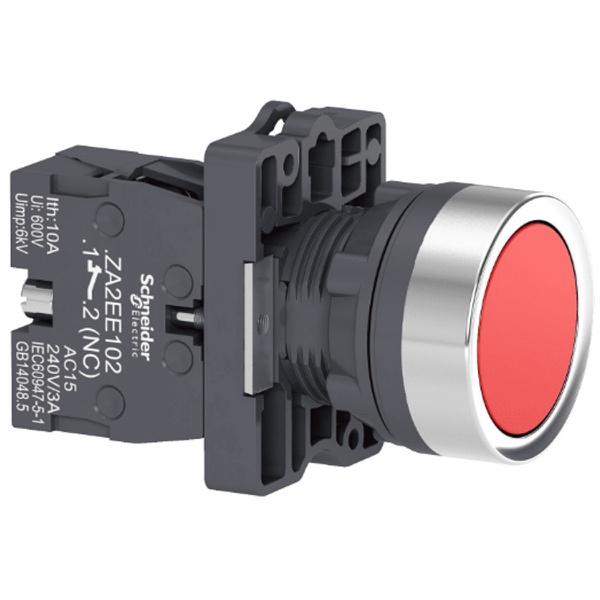 Botão 22mm Plástico a Impulsão 1NF Vermelho XA2EA42 Schneider