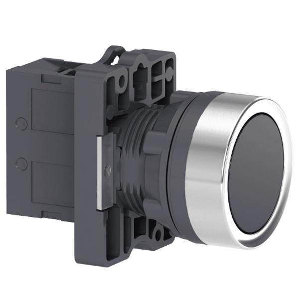 Botão 22mm Plástico a Impulsão 1NA Preto XA2EA21 Schneider