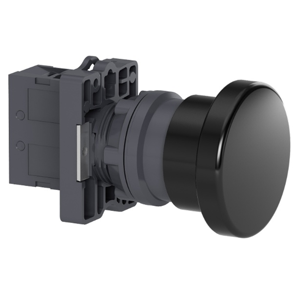 Botão 22mm Plástico Soco a Impulsão D40mm 1NA Preto XA2EC21 Schneider