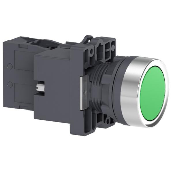 Botão 22mm Plástico Iluminado LED 24CC/CA 1NA Verde XA2EW33B1 Schneider
