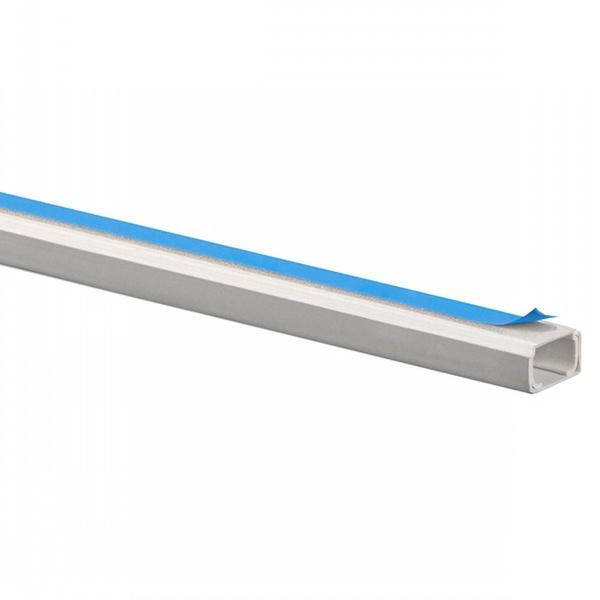 Canaleta para Superficie com Retentor e Adesivo 20X12mm Barra 2 Metros Branca Schneider