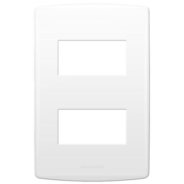 Placa 4x2 com Suporte para 2 Módulos 85091 Bianco Pró Alumbra