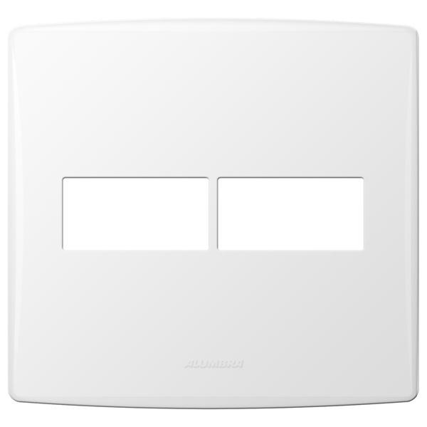 Placa 4x4 com Suporte para 2 Módulos 85094 Bianco Pró Alumbra