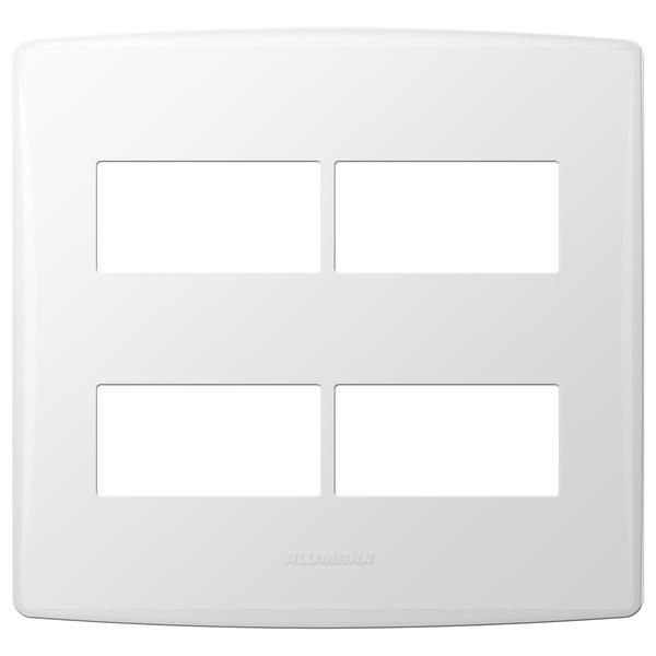 Placa 4x4 com Suporte para 4 Módulos 85095 Bianco Pró Aumbra