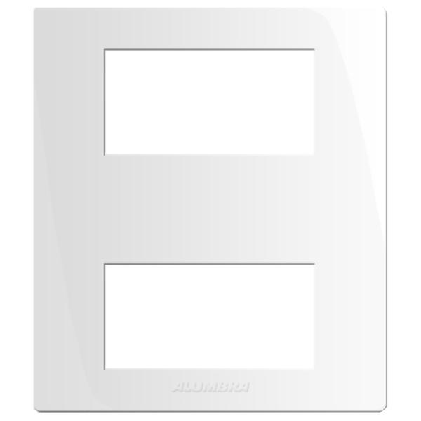 Caixa Sobrepor com Placa para 2 Módulos 85116 Inova Pró Alumbra