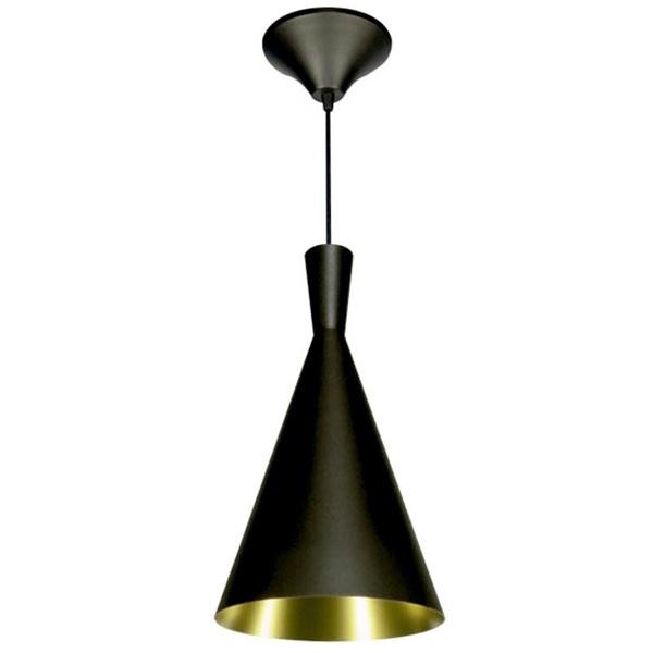 Pendente 860 Ø19cm Para 1 Lâmpada E27 Preto(externo) Cobre(interno)
