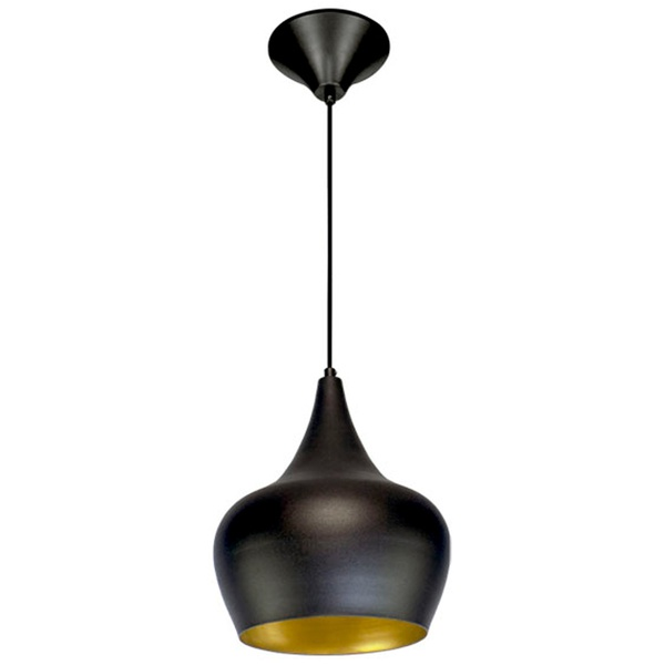Pendente 862 Ø25cm Para 1 Lâmpada E27 Preto(externo) Cobre(interno)
