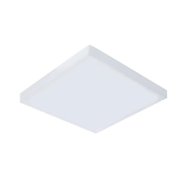 Plafon de LED Sobrepor Mini Borda 9x9cm Quadrado 8W Branco Quente