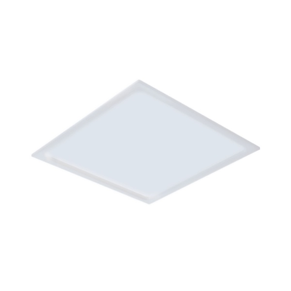 Plafon de LED Embutir Recuado 17x17cm Quadrado 12W Branco Frio