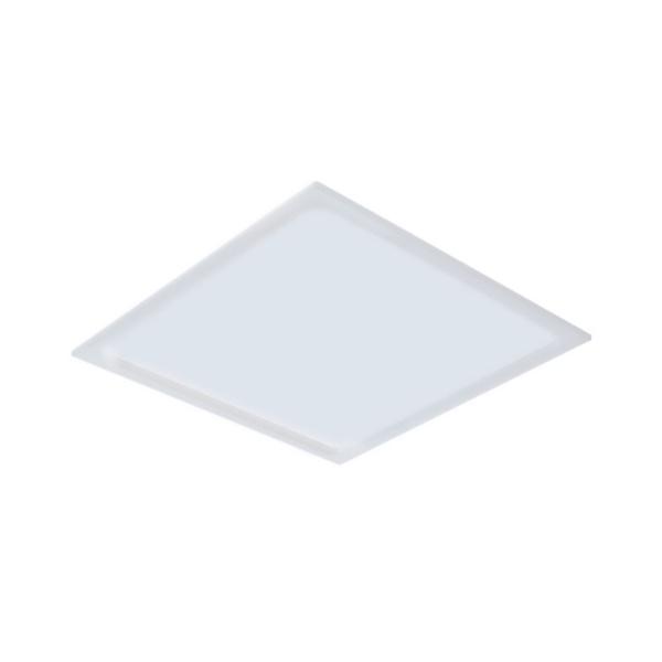 Plafon de LED Embutir Recuado 30x30cm Quadrado 24W Branco Quente