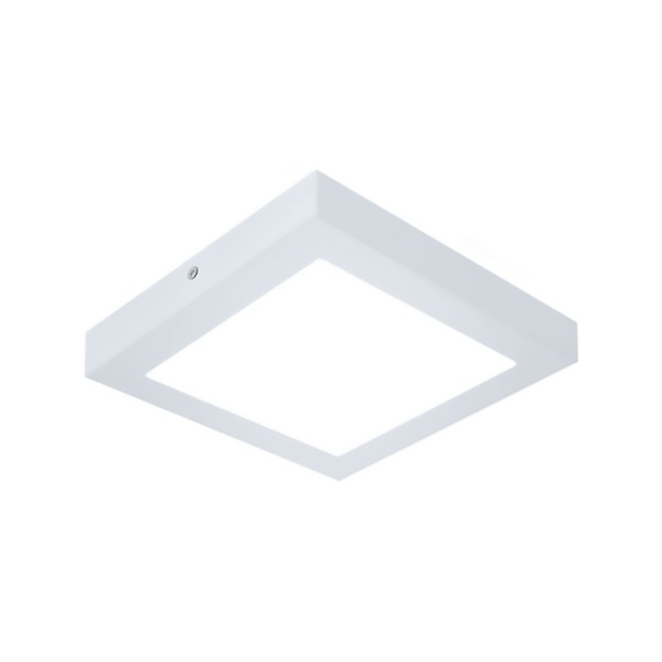 Plafon de LED Sobrepor Recuado 28x28cm Quadrado 24W Branco Frio