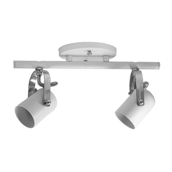 Spot para 2 Lâmpadas GU10 (Dicróica) Branco Trilho