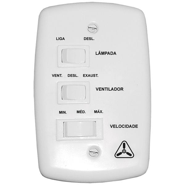 Controle de Velocidade de Parede para Ventilador de Teto (3 Velocidades) Venti-Delta
