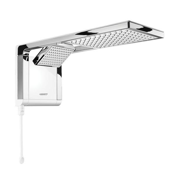 Chuveiro e Ducha Acqua Duo Ultra Eletrônica Branco com Cromado 220V 7800W Lorenzetti