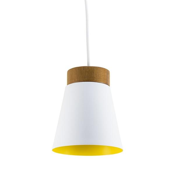 Pendente para 1 Lâmpada E27 Branco(Externo) Amarelo(Interno) SpotLine