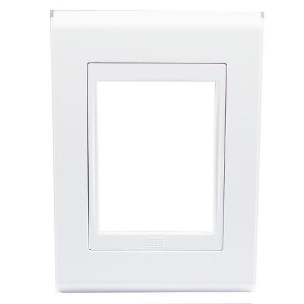 Placa 4x2 Para 3 Módulos Refinatto Style Branco- Weg