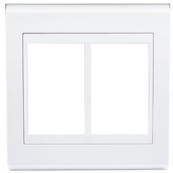 Placa 4x4 Para 6 Módulos Refinatto Style - Branco Weg