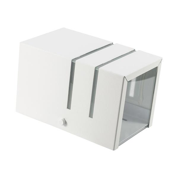 Arandela de Efeito Frisada para 1 Lâmpada E27 com 1 Vidro Branco I9