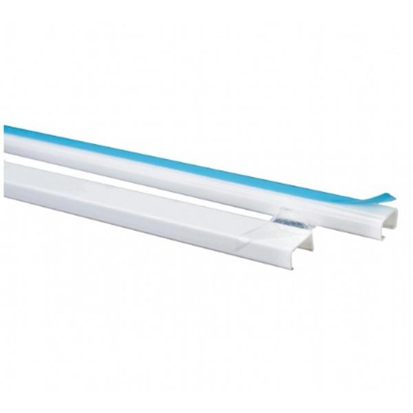 Canaleta para Superficie com Adesivo 13X07mm Barra 2 Metros Branca Schneider