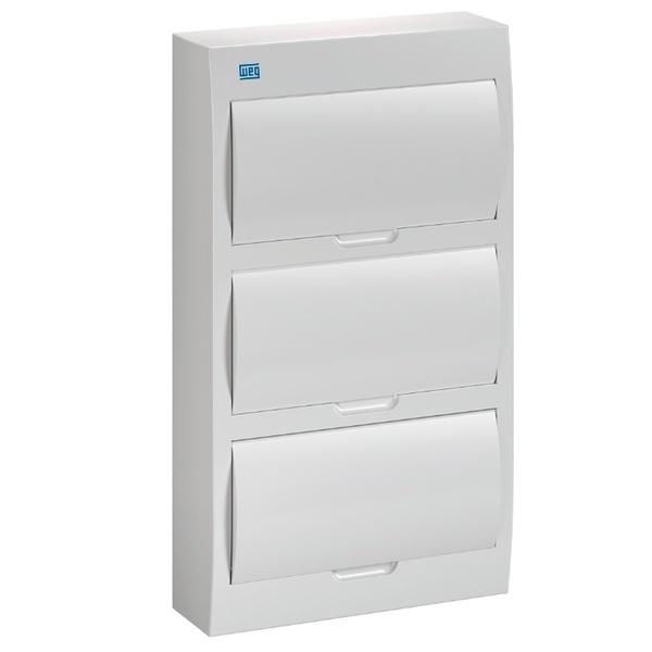 Quadro para 36 Disjuntores Sobrepor Branco QDW02-36-BS Weg